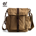 ecosusi Canvas Leather Bags Men's Travel Bag Canvas Men Messenger Bag Brand Mini Size Men's Bag Luxary Vintage Style Briefcase
