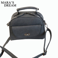 Mara S Dream High Quality Numbuck Leather Women Top Handle Bag Solid Color Fashion Lock Women