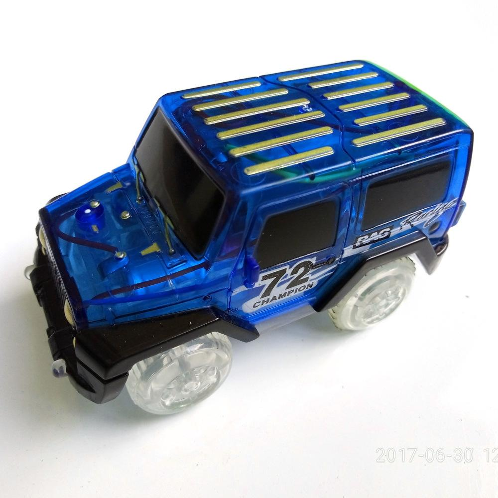 Image 3 - LeadingStar 1Pc Children LED Electric Car Toy for Glow Tracks Shining in the Dark Amazing Racetrack Race Car(Not Include Tracks)-in Diecasts & Toy Vehicles from Toys & Hobbies