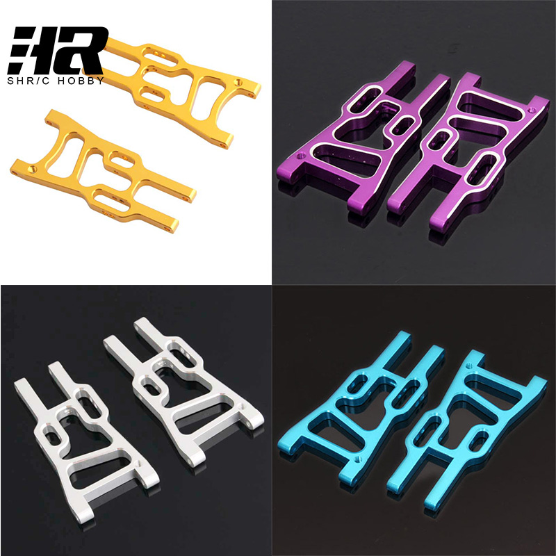 2pcs RC car HSP 106019 Aluminum Aolly Metal Front Lower Suspension Arm 06011 1/10 Upgrade Parts For 94107 94106 94170 hsp 860002 60004n upgrade parts for 1 8 scale models front upper suspension arm truck upgrade part cnc rc car remote control car