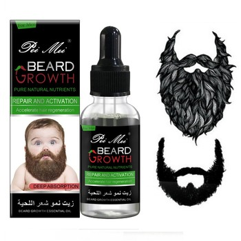 Pure Natural Beard Growth Essential Oil Gentle Nourishing Beard Care Moustache Beard Oil New Pro 3