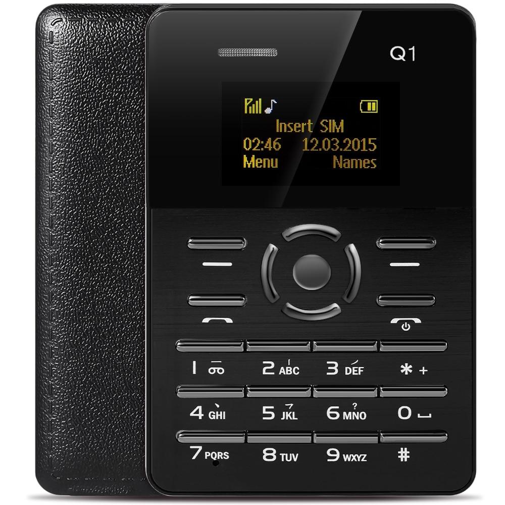 Original AIEK Q1 1 0 Inch Smartphone Ultra Thin Card Phone FM Audio Player Sound Recorder