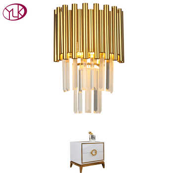 Youlaike Gold LED Wall Sconce Lighting Living Room Bedroom Crystal Wall Lamps AC110-240V Indoor Lighting - DISCOUNT ITEM  21% OFF All Category
