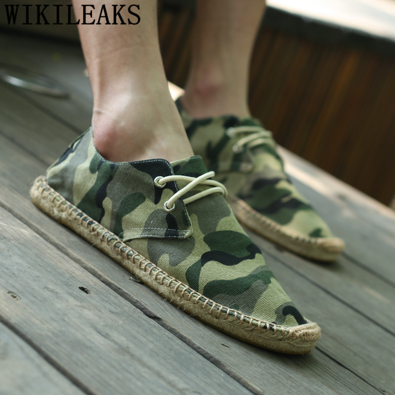 все цены на espadrilles mens shoes casual Fisherman camouflage shoes men designer canvas shoes men chaussure homme tenis masculino adulto