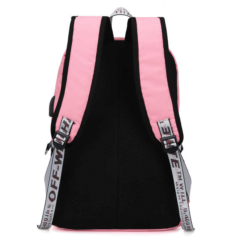 Большой Холщовый женский рюкзак с Usb, школьные сумки для девочек-подростков, черные большие сумки для книг, школьные сумки для подростков, школьные сумки для девочек, новинка 2019