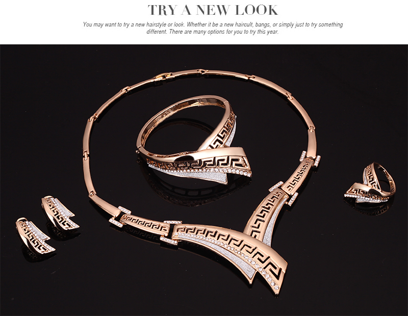 Amader Europe & America Sweet Fashion Vintage crystal Nuevo Collar - Bisutería - foto 3