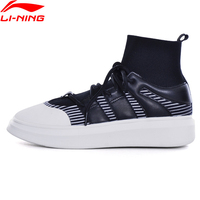 Li-ning נשים נעלי ספורט לנשימה אור גבירותיי כושר הליכה נעלי ספורט לי נינג GLKM144 L885 כמו גרב קלאסי