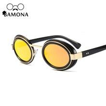 BAMONA Mujeres Diseño de Marca Marco Negro Gafas de Sol gafas de Sol Retro Gafas Ovaladas Punk Señoras de Conducción gafas de sol mujer