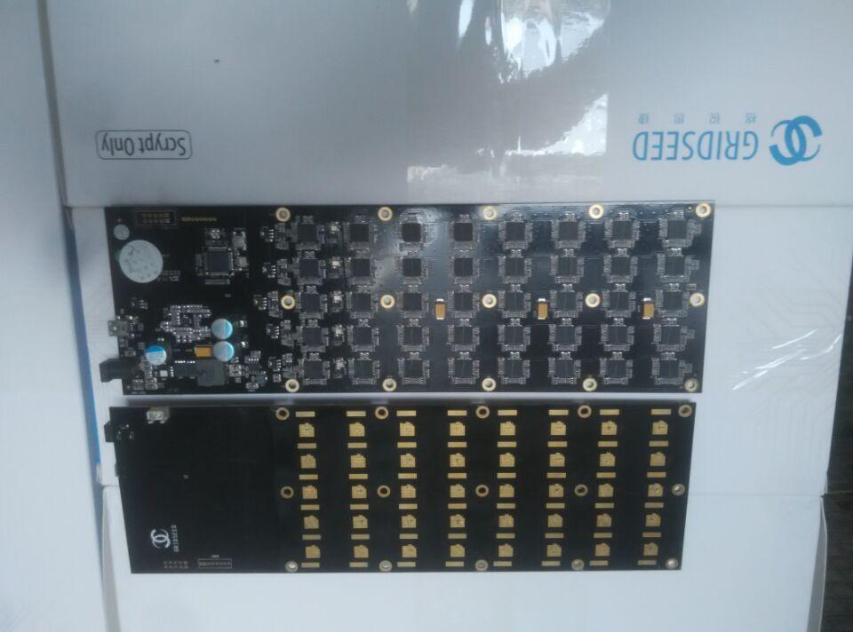 Używany miner 5.2-6M ostrze Gridseed dwa pcb zestaw zawiera kable, potrzebuje tylko 100-120W lepiej niż zeus alavon antminer ASIC miner