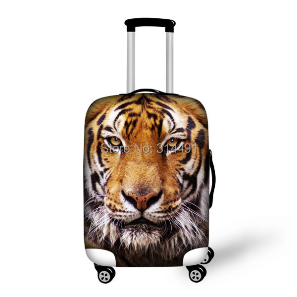 FORUDESIGNS Free Shipping 3D Animal Elastic Travel Luggage Cover Fashion Dust-proof Tiger Print Protect Suitcase Sets