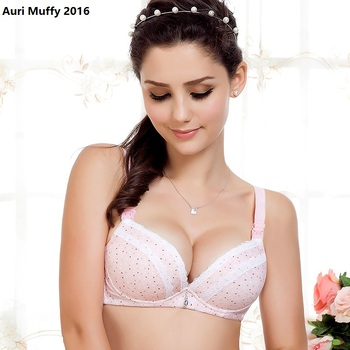 Auri Muffy 2016 Nursing bra Maternity underwear pregnant women breastfeeding maternity lace bamboo cup BC - discount item  23% OFF Maternity Clothings