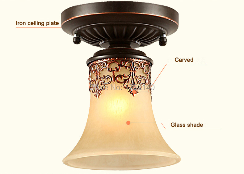 Classic ceiling lights retro royal style suspension lamp for materials iron glass light aloadofball Image collections