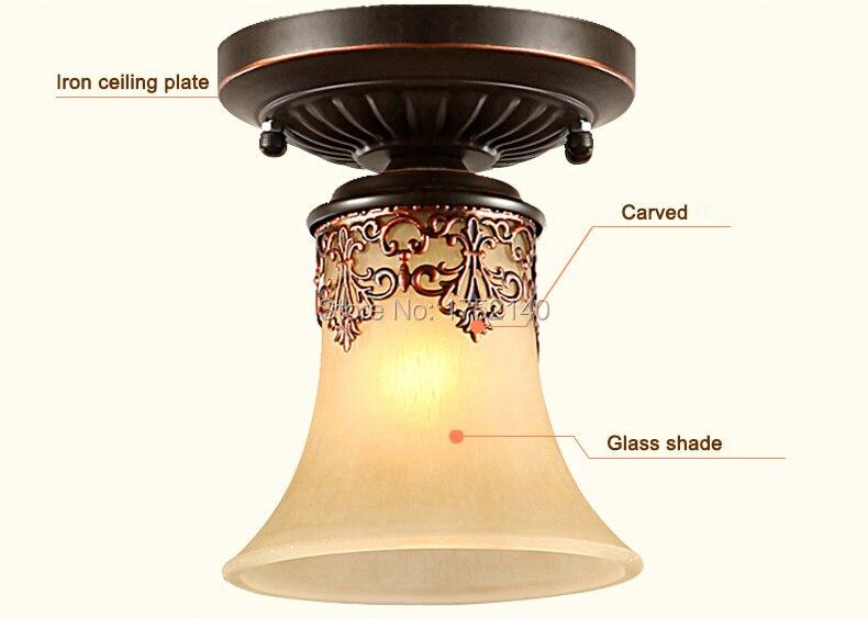 Plafoniere Da Balcone : Plafoniere classiche reale retro stile lampada a sospensione per