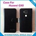 Caliente! 2016 Huawei GX8 caso, 6 colores de la alta calidad de cuero exclusivo Cover para Huawei GX8 número de seguimiento