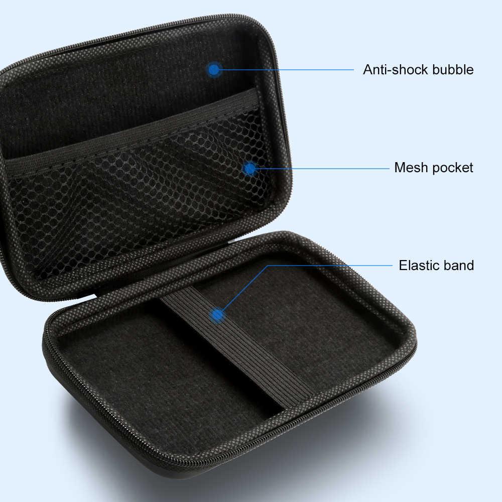 """Funda de transporte Rocketek bolsa de almacenamiento de protección de disco duro externo para disco duro de 2,5 """"caja de la bolsa del banco de la energía"""
