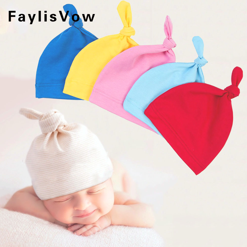 Clearance Hat Solid Baby Beanie Toddler Soft Warm Sleep Wear Cap Kids Newborn Clothing Hat Infant Photography Prop Accessories
