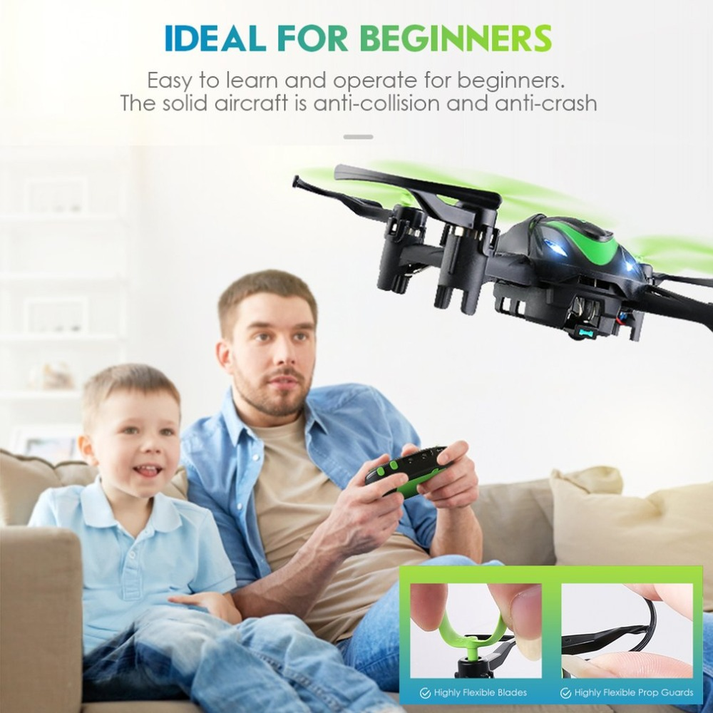 JJR/C H48 4CH RC Mini Pocket Drone Quadcopter Infrared Remote Control with 3D Flips Mode for Beginners Kid Gift