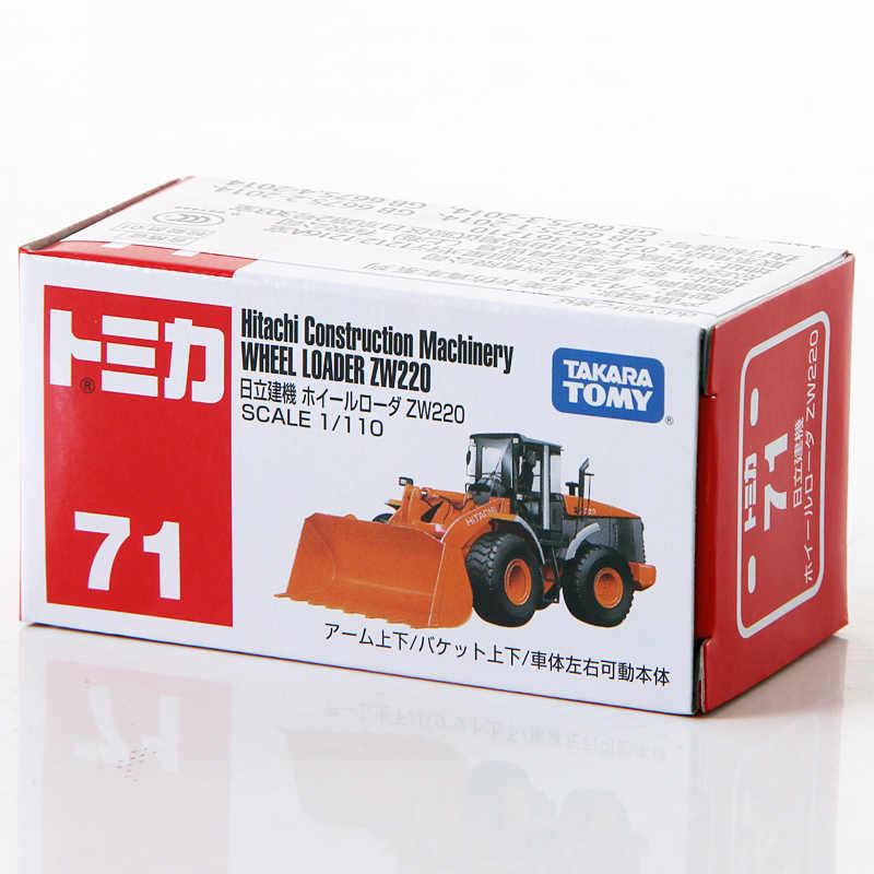 TAKARA TOMY Tomica 1/110 Hitachi Construction Machinery Wheel Loader ZW220 Logam Mainan Mobil Baru