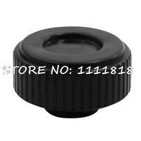 0 3 Diameter Female Thread Hole Black Plastic Round Knob