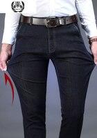 Winter Clothes Designer Jeans Men High Quality Denim Pants Thick Trouser Straight Fashion Clothes Mens Jeans Coffee Carbon Fiber