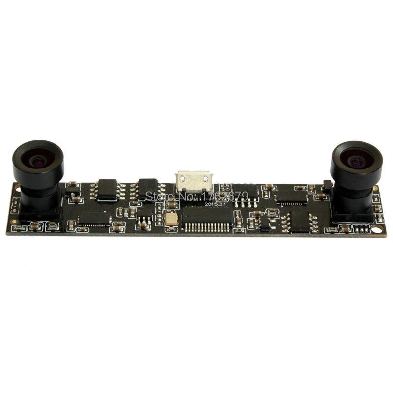 10pcs/lot MJPEG 30fps 1280*720 OV9712 CMOS dual lens mini PCB camera board
