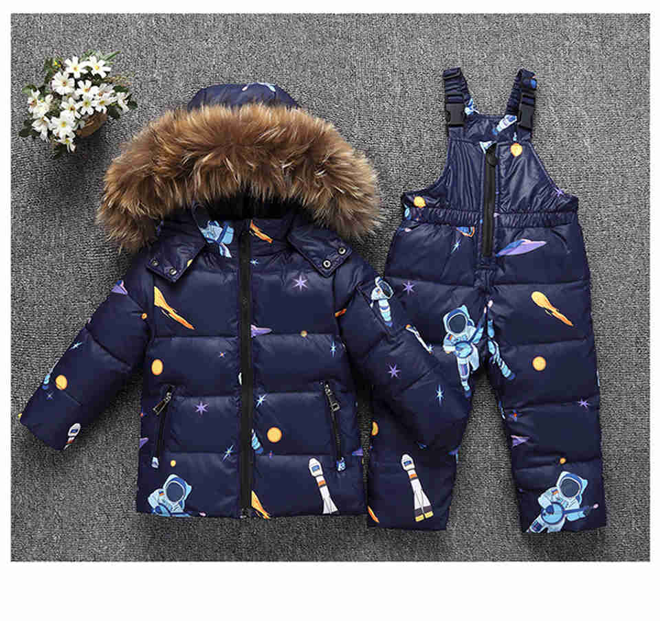 Toddler Boys Girl Clothes Sets Childrens Down Jacket Winter Warm Hooded Real Fur Newborn Infant Children Costume Snow SuitToddler Boys Girl Clothes Sets Childrens Down Jacket Winter Warm Hooded Real Fur Newborn Infant Children Costume Snow Suit