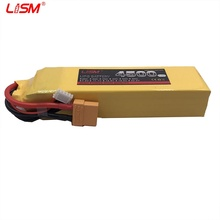 RC LiPo Battery 4S 14.8V 4500mah 60C Max 120 60C 4S RC cell for RC Airplane drone bort car 14.8V RC LiPo battery 4s #20y76 цена