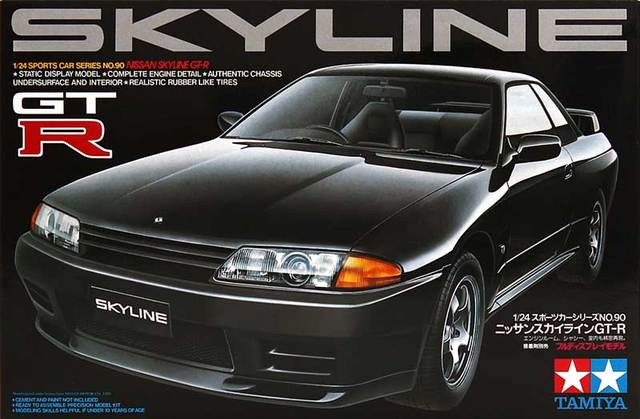 Tamiya 24090 1/24 Scale Model Car Kit Nissan Skyline GT-R R32
