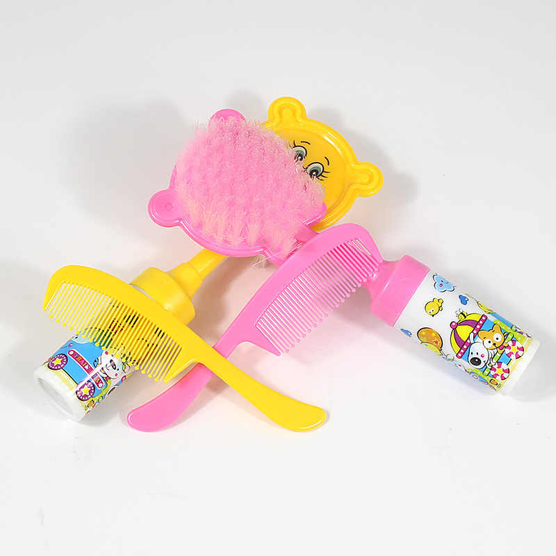 2 unids/lote conjunto de cepillos para bebés, cepillo portátil para lavar el baño, accesorio para el cuidado de dibujos animados para bebés recién nacidos, cepillo para el cabello para amamantar
