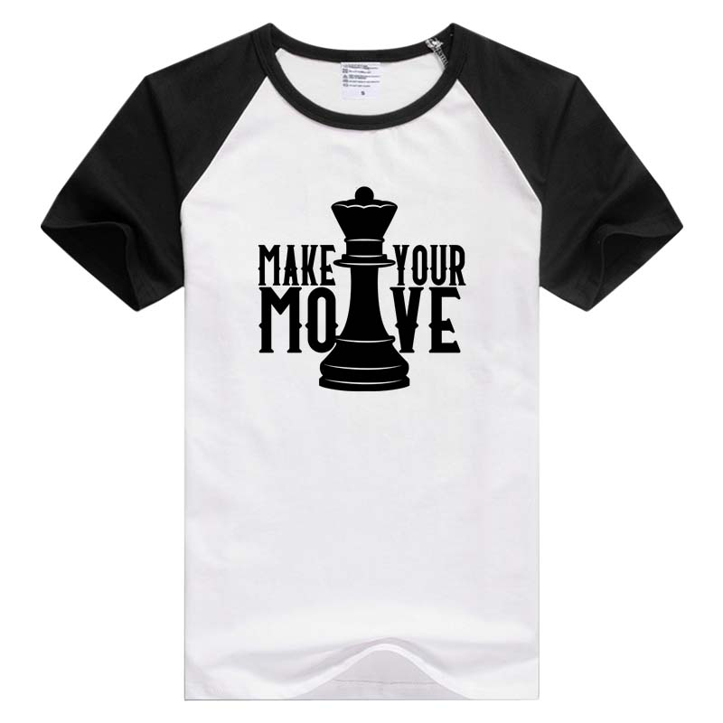 Chess Make Your Move short sleeve casual Men Women T-shirt Comfortable Tshirt Cool Print Tops Fashion Tees GA1124 image
