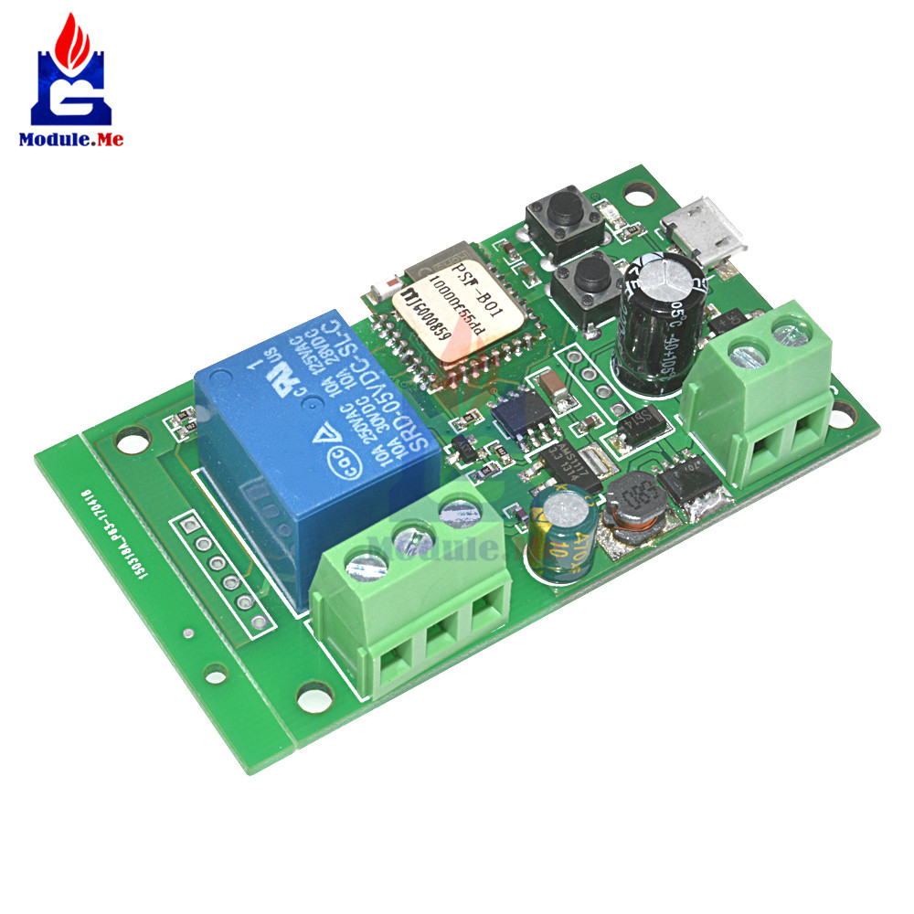 DC 5V 12V 1 Channel Relay Shield Inching/Self-locking Wifi Switch Relay  Module for Smart Home Improvement Intelligent Furniture