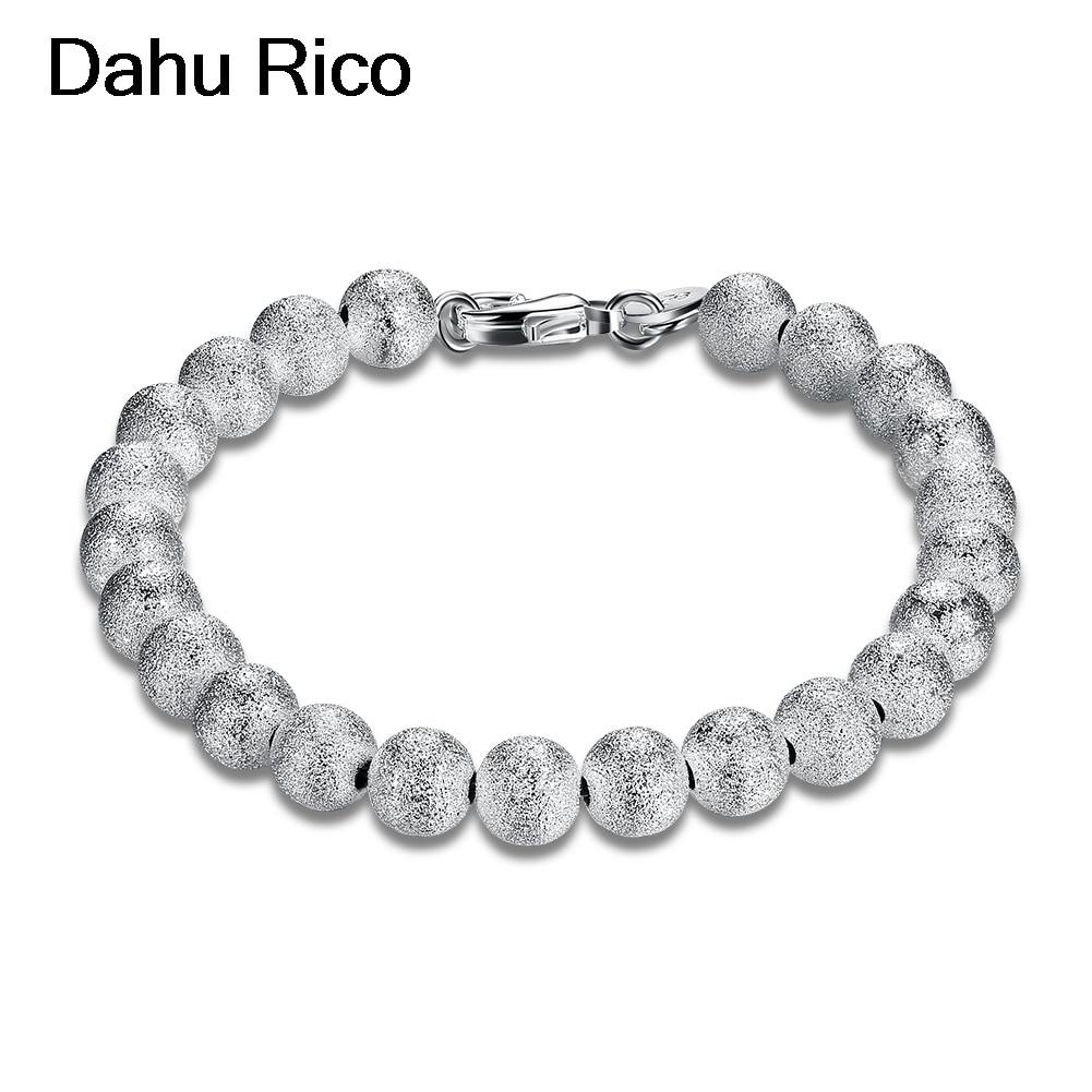 8mm frosted bead kralen armbandjes bileklik femmes de boda fathers day dia del padre en argent jamaica bijut Dahu Rico bracelets