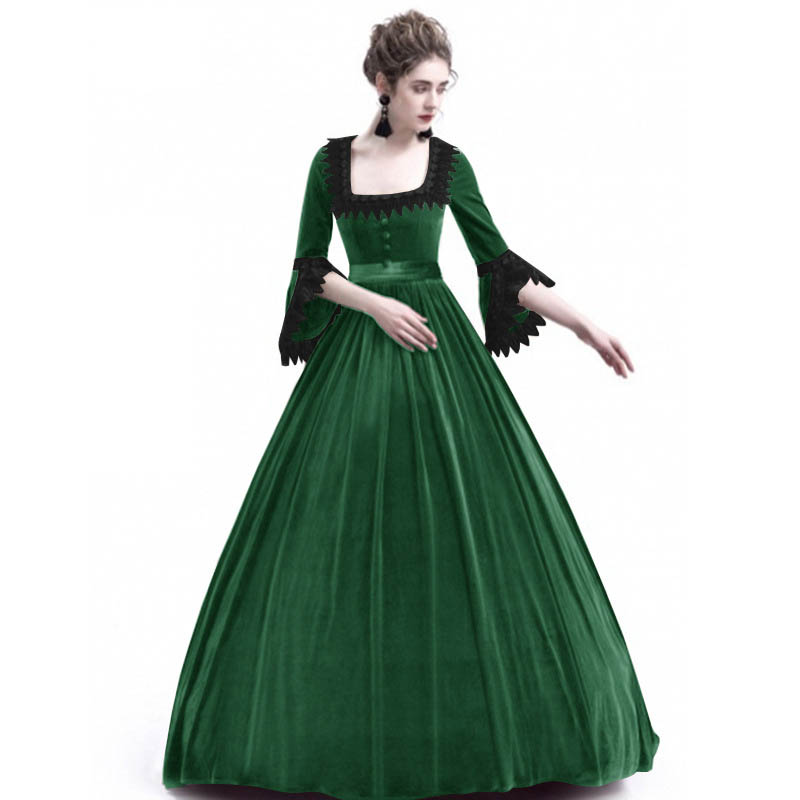 Medieval Princess Dress Women 2018 Vintage Plus Size Palace Prince...