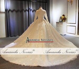 Image 5 - Vestido de noiva abendkleider, vestido de baile para iniciantes, fotos reais, alta qualidade, 2020