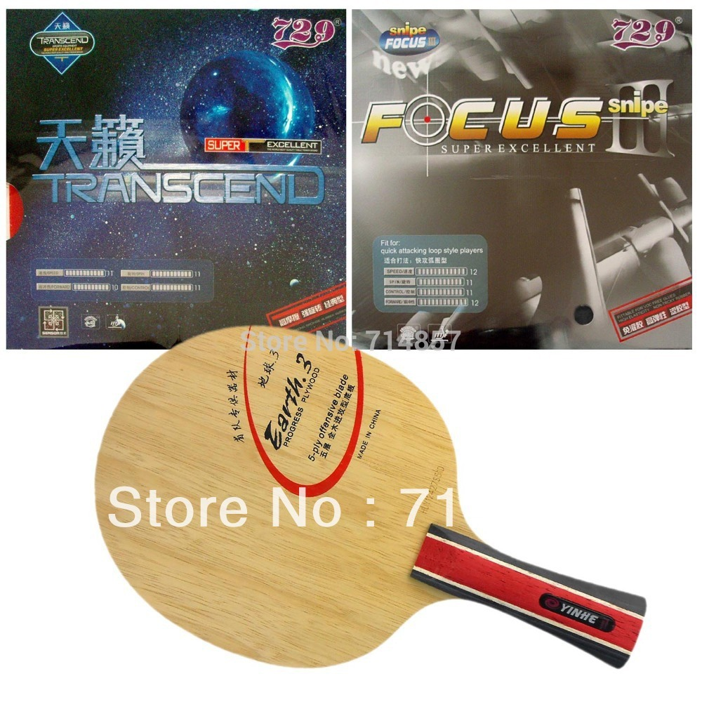 ФОТО Galaxy YINHE Earth.3 Table Tennis Blade with 729 TRANSCEND CREAM / 729 FOCUS III snipe Rubber with sponge for a racket