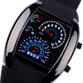 Fashion Watch Top Quality Men Sports Led Watches Race Speed Car Meter Dial Silicone Strap Men Male Clock  Military Watches