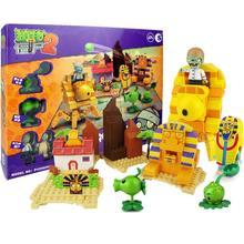 2 стиль Растения против Зомби игры строительные блоки кирпичи совместимы с Legoingly подарки