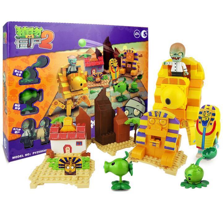 New2 stil pflanzen vs zombies Spiel Bausteine Bricks Kompatibel Mit Legoingly geschenke