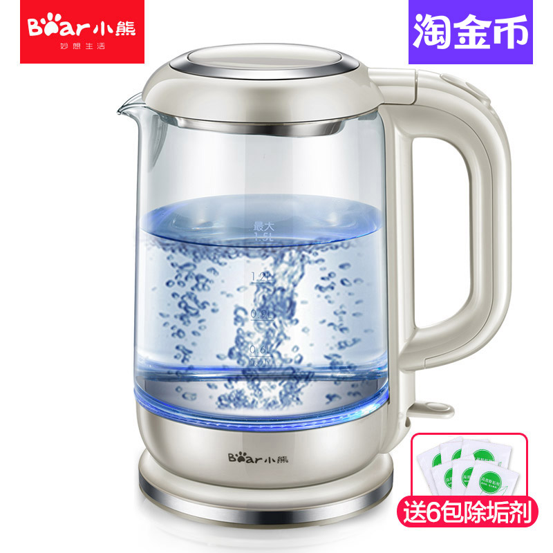 Household glass electric kettle food grade 304 stainless steel kettle household