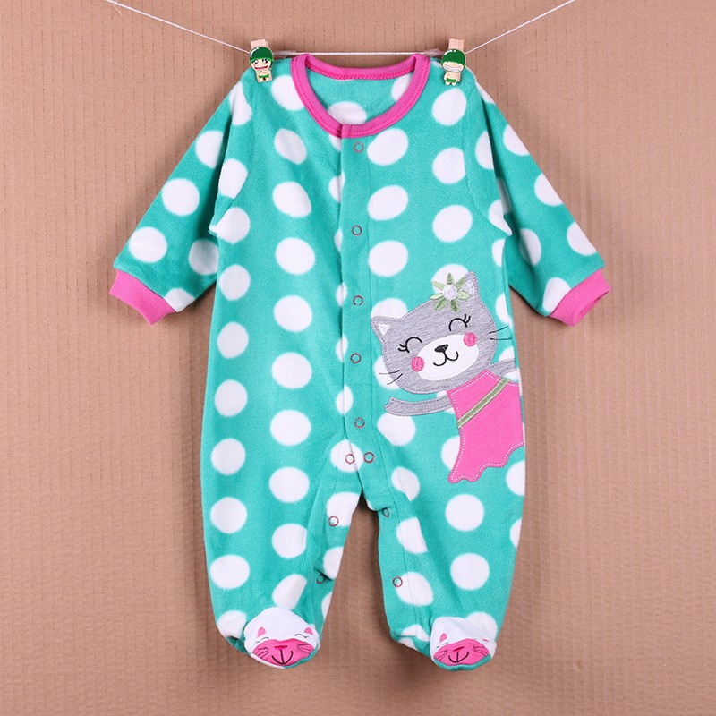 New Arrival Baby Footies Boys&Girls Jumpsuits Spring Autumn Clothes Warm Cotton Baby Footies Fleece Baby Clothing Free Shipping (16)