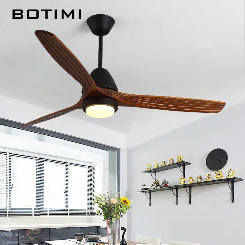 Botimi светодиодный потолочный вентилятор с подсветкой для гостиной Ventilateur de plafon 220 В потолочные вентиляторы лампа спальня охлаждения люстра-вентилятор