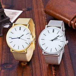2018 Мода Лидер продаж модные женские туфли цвета: золотистый, серебристый кварцевые часы Повседневное дамы Часы из нержавейки Relogio Feminino