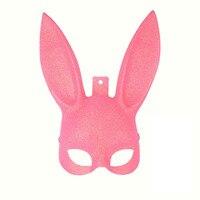 2 шт./лот мультфильм сексуальная кроличьи уши кошка Уход за кожей лица маска окружающей среды Пластик хэллоуин пасха Маскарад Половина-Уход ...