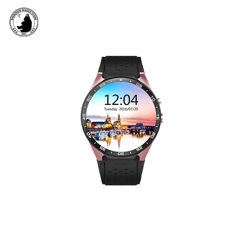 Hot Electronics Kingwear Smart Watch KW88 phone Android 5.1 GPS 2.0MP Camera Pedometer Heart Rate support 3G WIFI nano SIM card цена и фото