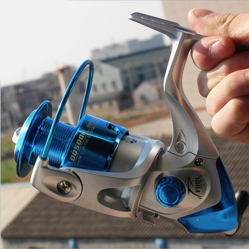 Wheels Fish Spinning Reel 5.2:1, 6 Ball Bearing Fishing Reels Spool Fish Spinning Wheels Lightweight Rear Accessories 12 1 bb ball bearing left right fishing spinning reels sea fish line reel