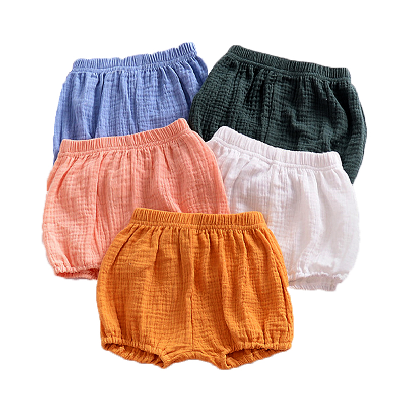 2018 Newborn Baby Bloomers Shorts PP Pants Cotton Linen Solid Baby Girls Shorts Summer Trousers