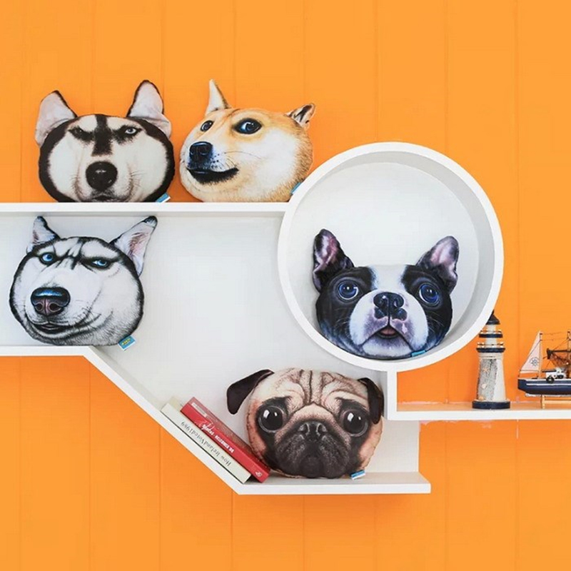 New Hot 3D Dog Decoration Dog Pillow Creative Personality French Bulldog Dog Ornaments Best Gift