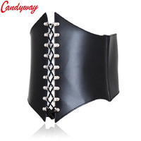 98eccbd0f Waist Trainer Corsets Leather Steampunk Corselet Gothic Clothing Waist  Trainer Lingerie Slimming Party Corsets And Bustiers