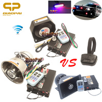 Truck Horn 12V Police Warning Siren Alarm Car Horn Super Loud Wireless Speaker 200W 6 LED Lights Strobe Megaphone MIC PA System