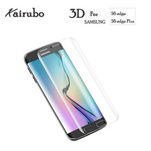 Ultra thin 3D Curved Tempered Glass For Samsung S6 Edge Screen Protector Galaxy edge